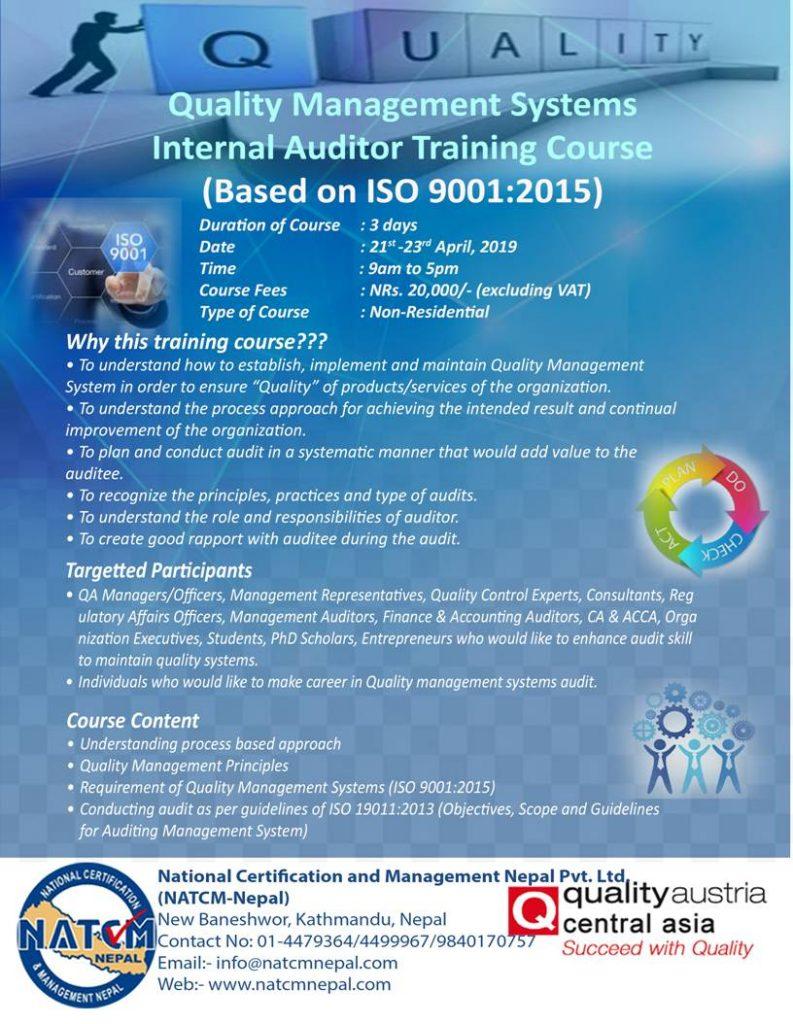ISO in Nepal , Internal Audit Training